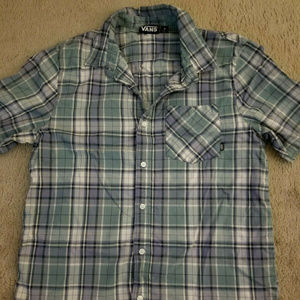 Vans plaid button up shirt sleeve shirt Medium